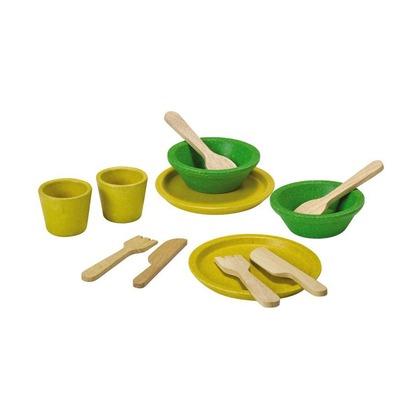Набор посуды, желтый