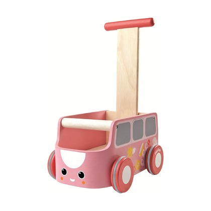 Машинка-каталка розовая