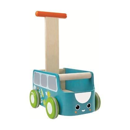 Машинка-каталка голубая